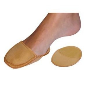 gel forefoot cover on foot