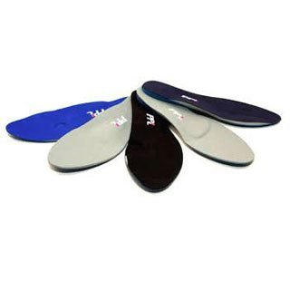 selection of orthotics / insoles in different colours